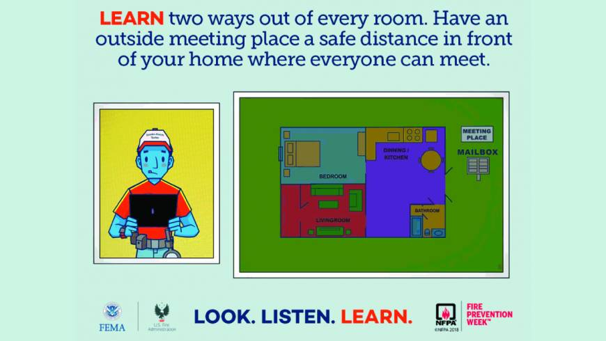 Fire Prevention Week: LEARN – Home escape what you need to know and do!