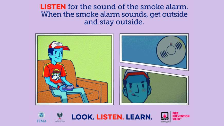 Fire Prevention Week: LISTEN – Smoke detectors and what you need to know and do!