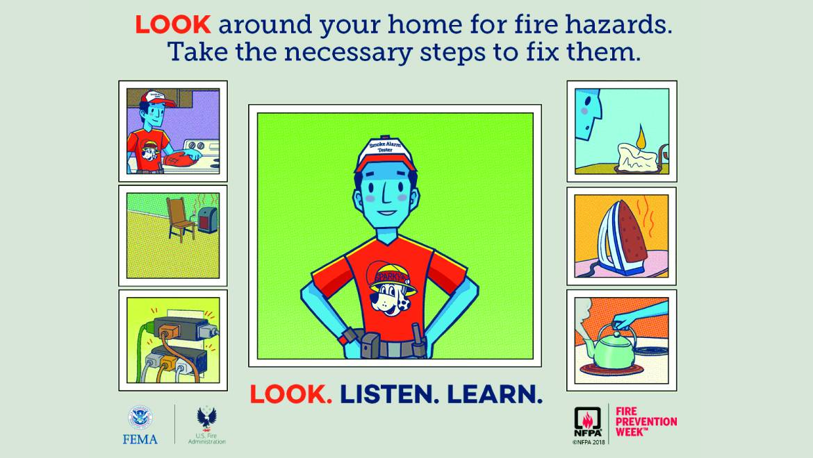 Fire Prevention Week: LOOK – Take a good look around your home.